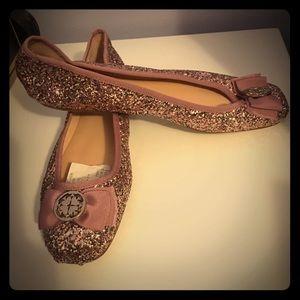 Kate Spade Sparkling Pink Slipons